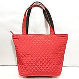 Женские стеганные сумки со змейкой (БАКЛАЖАН)32*34см, фото 5