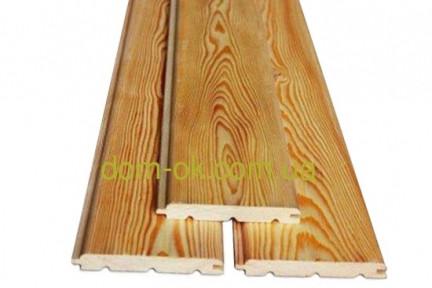 Деревянная вагонка из сибирской лиственницы размер 14х96 /121 мм, длина 3,0, 4,0 м сорт Эк