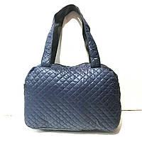 Дутые, болоньевые сумки под пуховик (СИНИЙ)28*40см