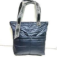 Дутые, болоньевые сумки под пуховик VITN (СИНИЙ)34*39см