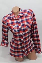 Рубашки в клетку женские длинный рукав