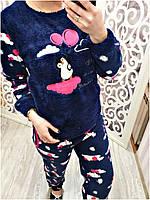 Пижама женская Турция флис + махра