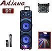 NEW ! Ailiang DJ-1034 Большая блютуз колонка, 2 беспроводных микрофона, фото 2