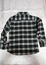 Байковая в клетку рубашка на мальчиков 146,152,158,164 роста, фото 2