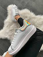 Женские кроссовки Alexander Mcqueen White Shoes Hologram(Топ качество)