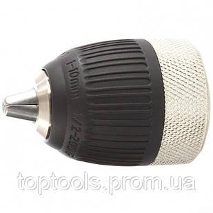 Патрон для дрели быстрозажимной c autolock 1-10 мм, 1/2 MTX
