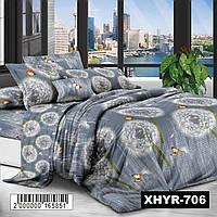 Комплект постельного белья полиэстер Одуванчик - Семейный (85706)