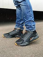 Кроссовки мужские  демисезонные NIKE x ACRONYM чёрный/оранжевый