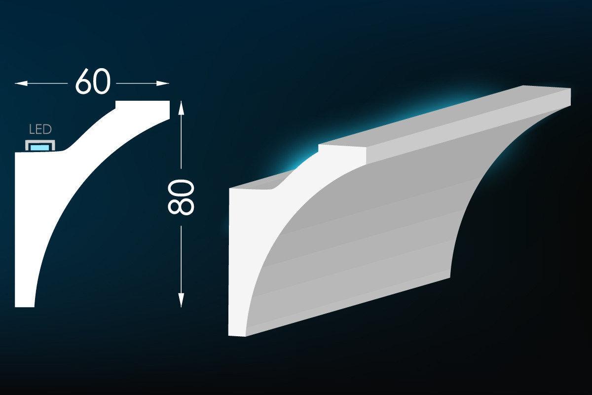 Потолочный плинтус под LED подсветку