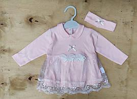 Нарядное детское платье на девочек 3-6 мес Турция оптом