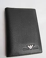 Обложка для документов АРМАНИ 2924А black кожаная обложка АРМАНИ (реплика)