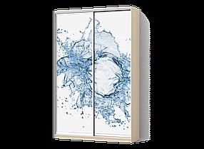 Шкаф-Купе Двухдверный Стандарт-4 Фотопечать Ab072, ДСП Дуб Молочный (Luxe-Studio TM)