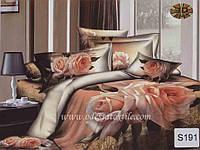 Комплект постельного белья  ELWAY сатин 3D 191
