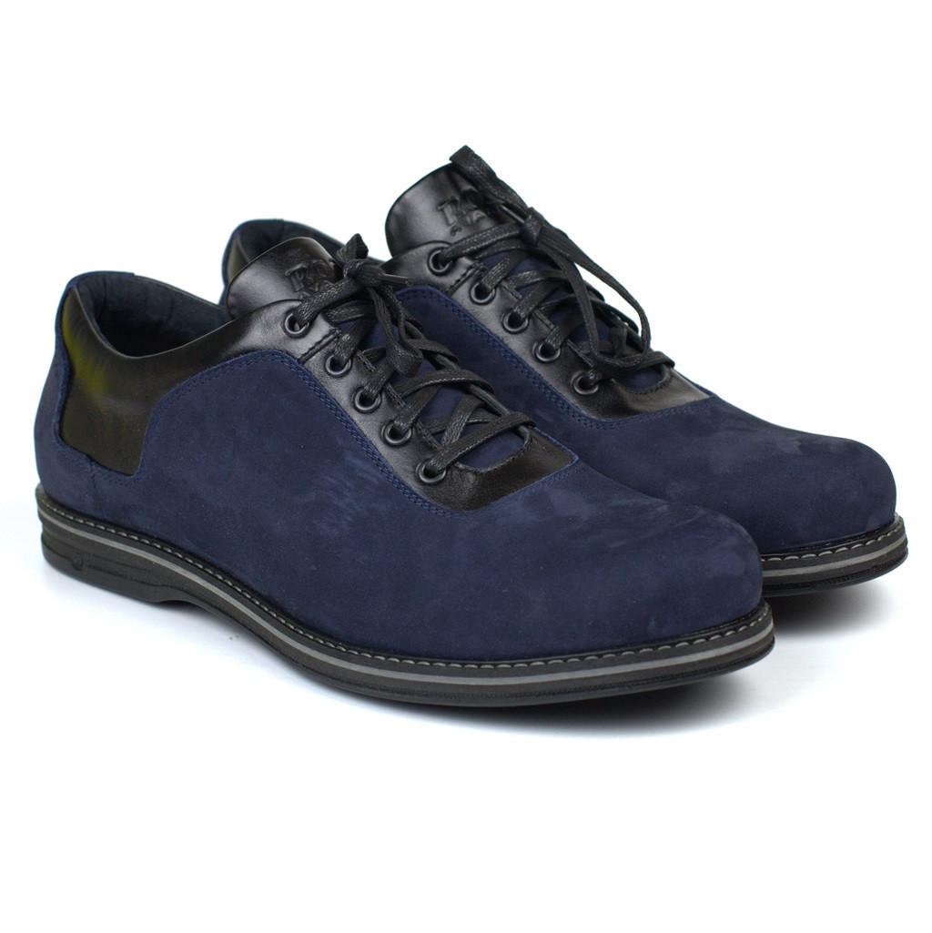 Великий розмір чоловічі полегшені сині туфлі нубук Rosso Avangard Prince 2 Blu Nub BS