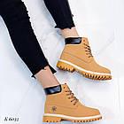 Женские зимние ботинки коричневого цвета, эко кожа (под нубук), фото 2