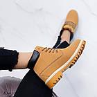 Женские зимние ботинки коричневого цвета, эко кожа (под нубук), фото 4