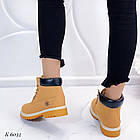 Женские зимние ботинки коричневого цвета, эко кожа (под нубук), фото 5