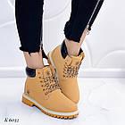 Женские зимние ботинки коричневого цвета, эко кожа (под нубук), фото 6