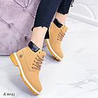 Женские зимние ботинки коричневого цвета, эко кожа (под нубук), фото 8