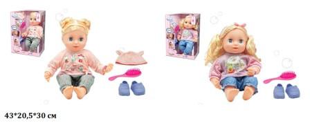 Кукла функциональная, мягконабивная, расческа, музыка-песня, WZJ024B-1IC