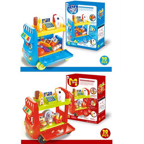 """Игровой набор """"Магазин"""", посуда, продукты, 38 предметов, музыка, звук, свет, W034-44"""
