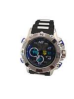 Часы Bslong Синий электронные + кварцевые в железной подарочной коробке., фото 1