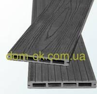 Террасная доска из ДПК Полимер Вуд коллекция  Massive 150 х20 х2200мм антрацит
