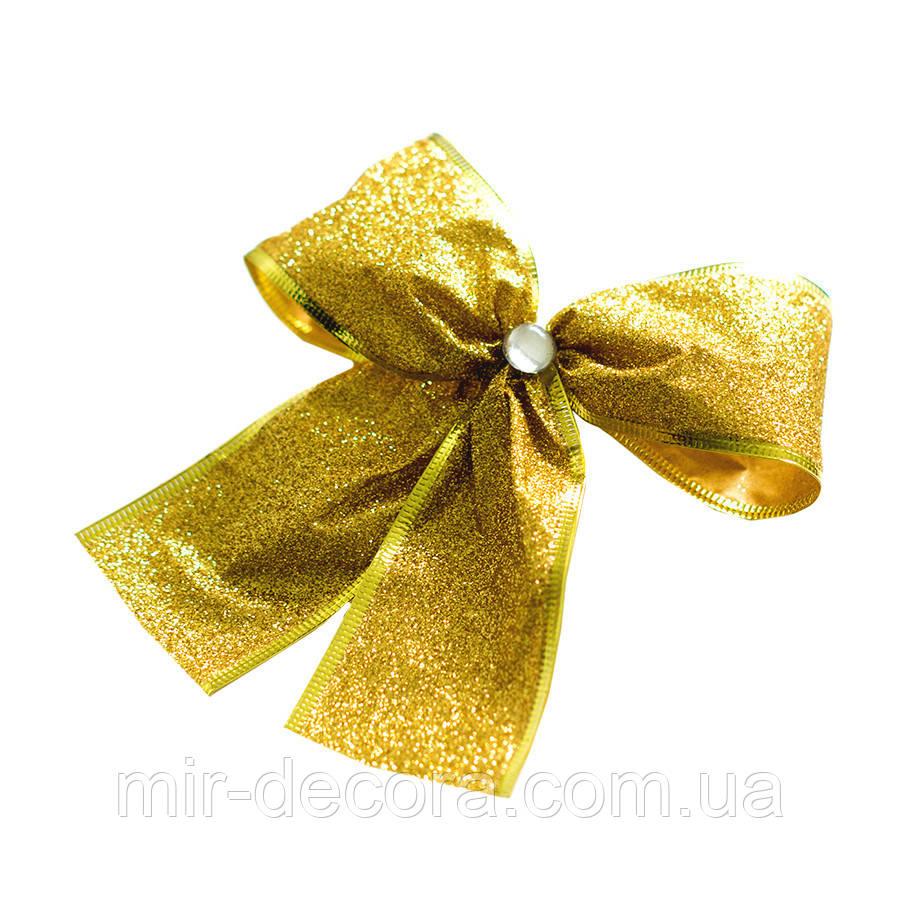 Золотые банты на елку. Метал 5.0 (золотой)