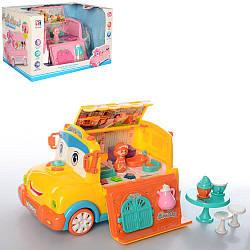 Набор игровой, автобус, мебель, фигурка, посуда, звук, свет, BT-2223E