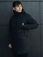 Парка зимняя мужская Staff hender black куртка черная