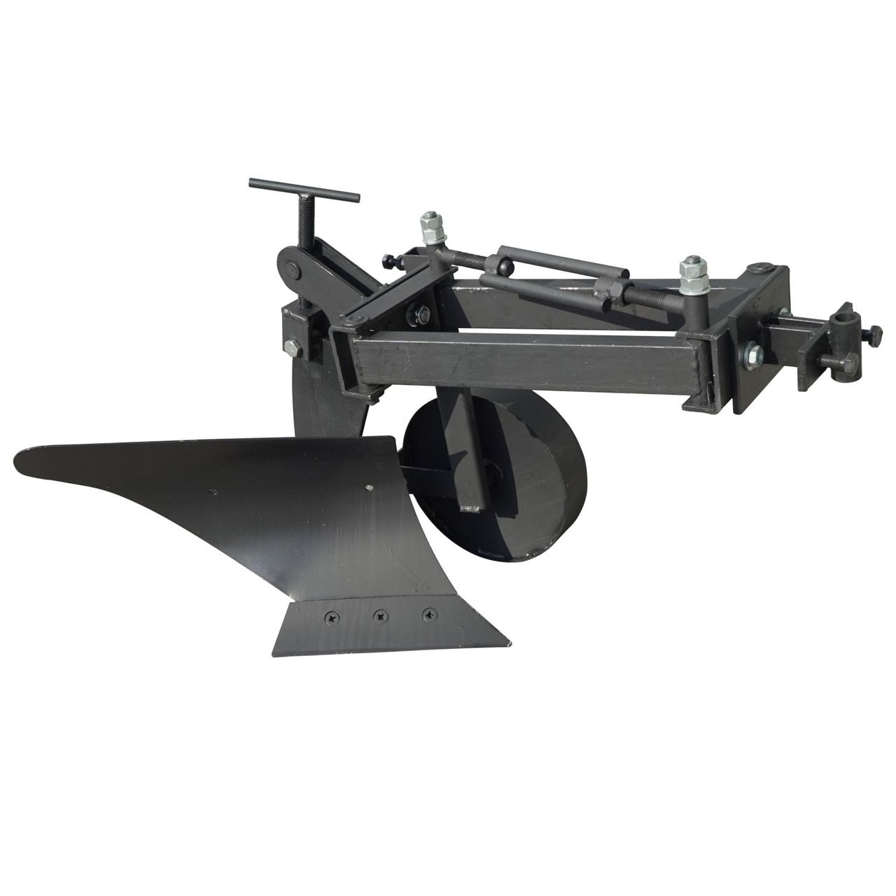 Плуг для мотоблока Zirka-61 (опорне колесо, коротка рама), ПЛ10