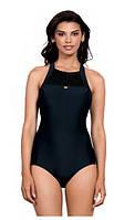 Купальник Self  женский для бассейна однотонный с открытой спинкой, фото 1