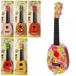 Гитара, 41см, 4 струны, медиатор, 7 видов, B-82E-G-EF-GF