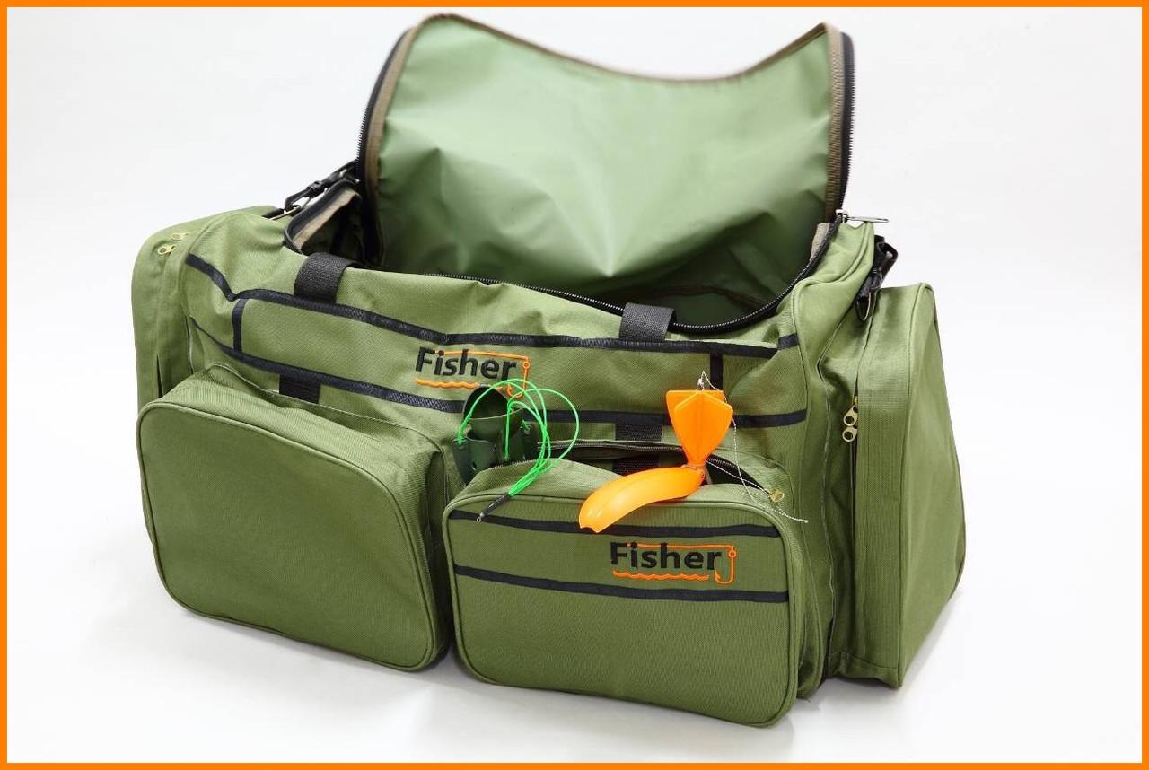 Многофункциональная транспортировочная сумка для рыболовных снастей, 5 отделений, с наплечным ремнем