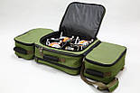 Универсальная рыбацкая сумка для поводочницы, 4 катушек, 8 банок бойлов, и др. рыболовных аксессуаров, фото 2