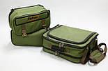 Универсальная рыбацкая сумка для поводочницы, 4 катушек, 8 банок бойлов, и др. рыболовных аксессуаров, фото 3