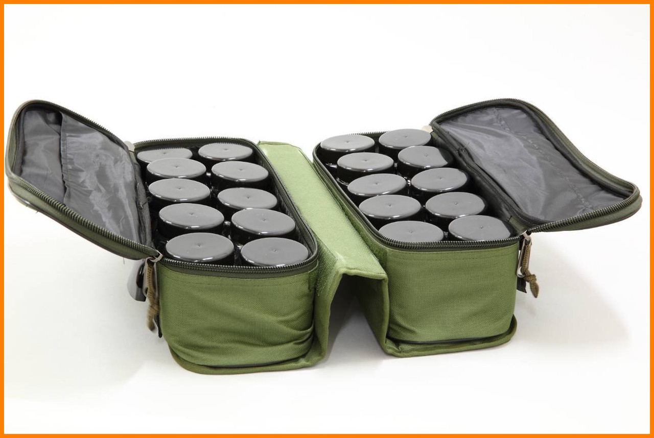 Сумка для хранения и транспортировки бойлов, с 20-ма банками в комплекте, 2 отделения, водонепроницаемая