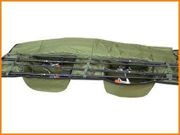 Чехол для 8 карповых удилищ, 190 см, вмещает 12 ft удилища, с двумя отделения под катушки и боковыми карманами