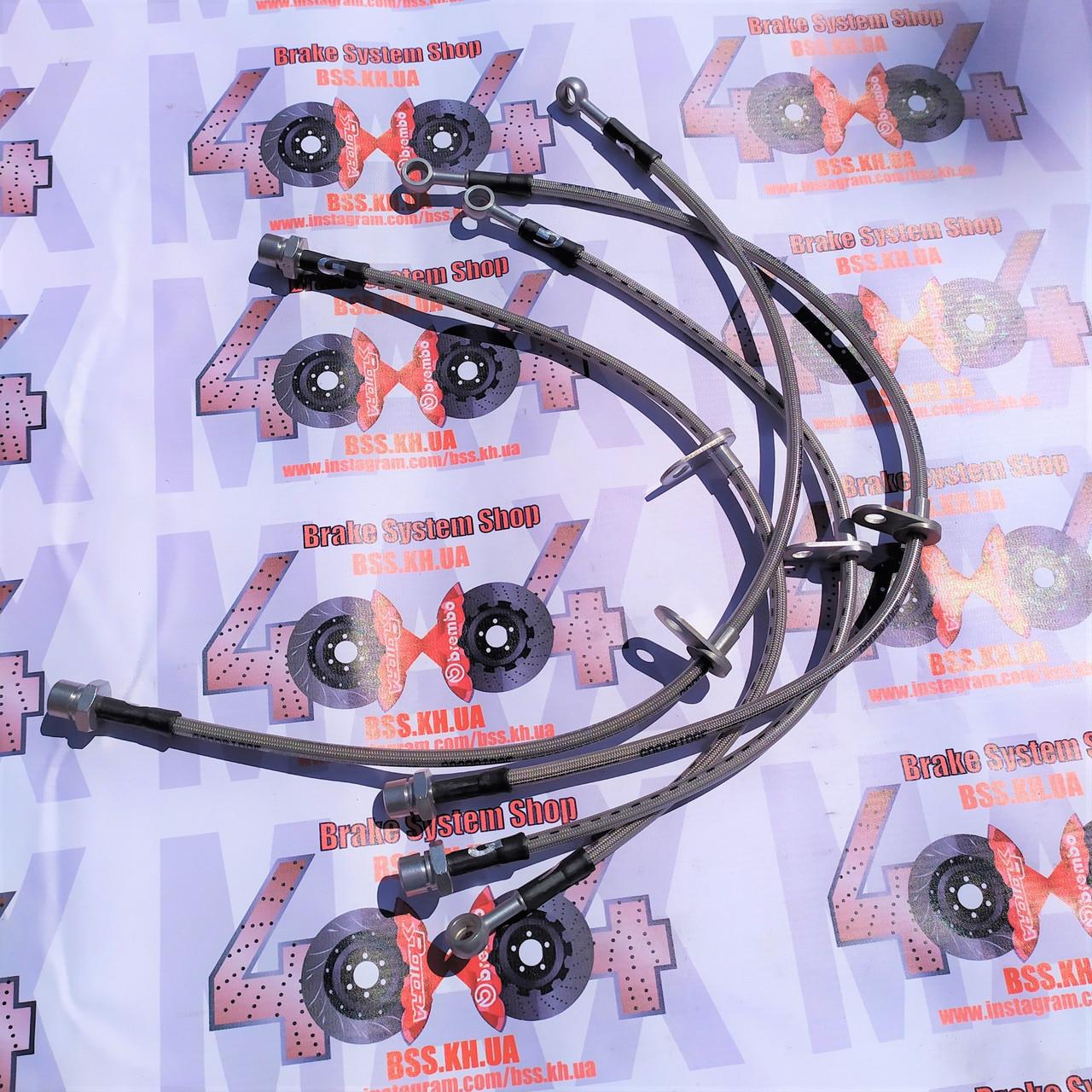 Комплект армированных тормозных шлангов Goodridge TTY7000-4PCF (4 шт.) Toyota Camry V70 4шт.
