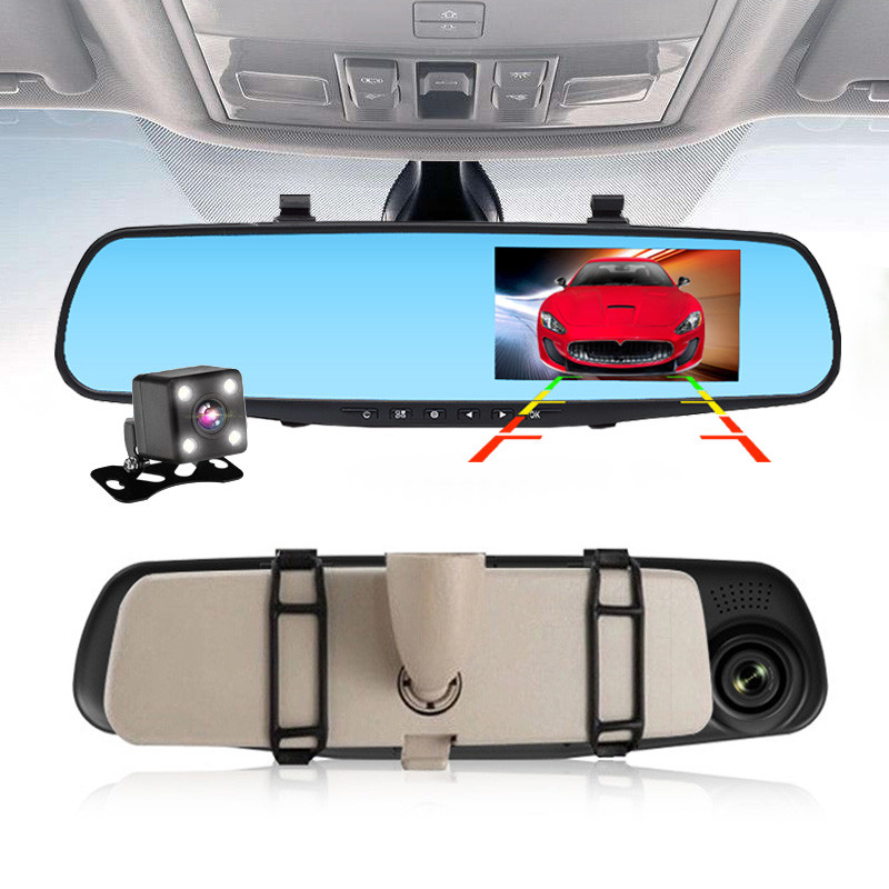 Видеорегистратор авто-зеркало L-9010 2 камеры 1080P Full HD