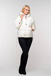 Зимняя женская куртка белого цвета Руфина Нью Вери (Nui Very)
