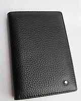 Обложка для документов MontBlanc 2600 black кожаная обложка MontBlanc (реплика)