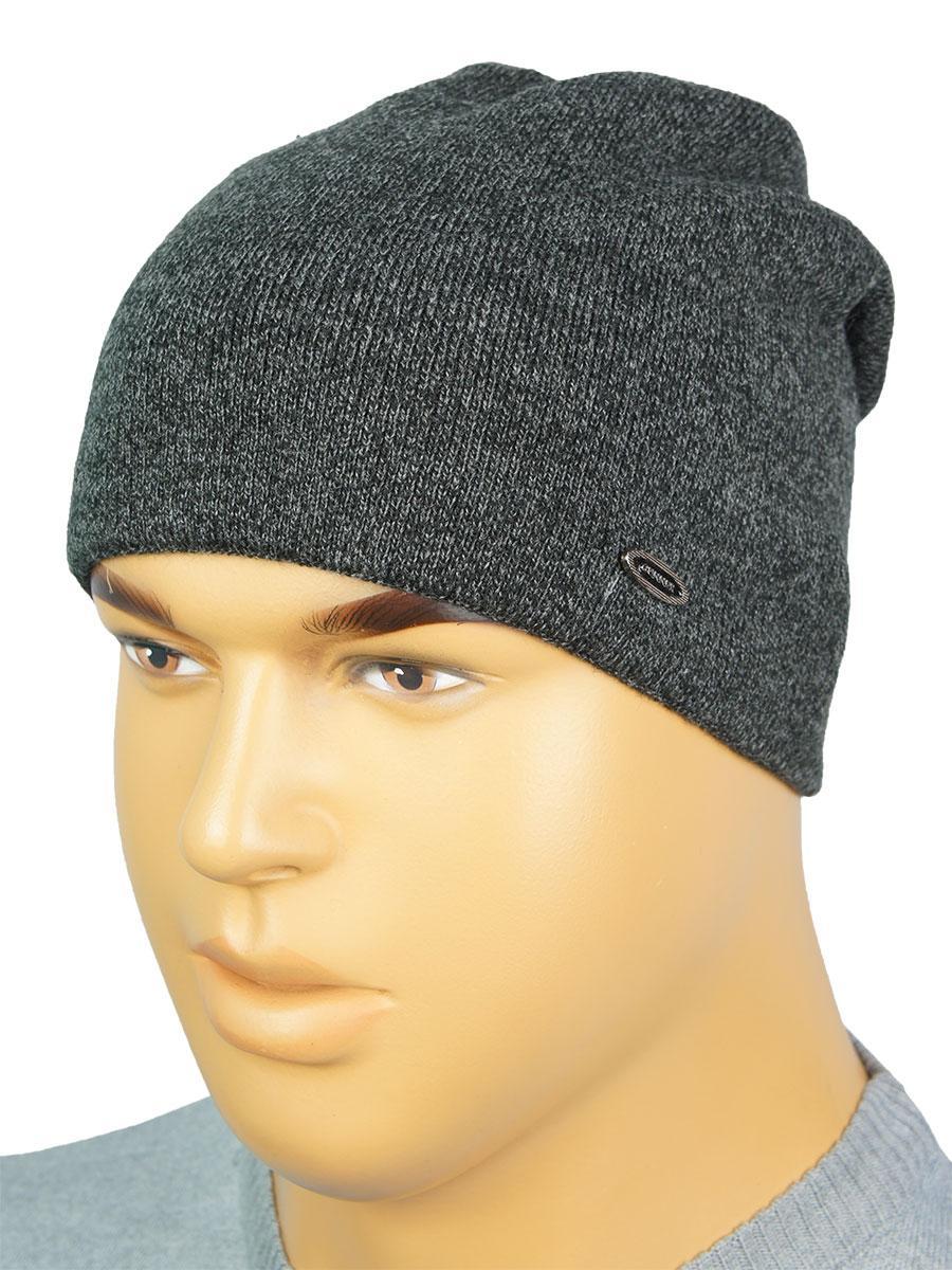 Стильна сіра чоловіча шапка Gunner G-2019 grey melange