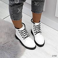 Ботиночки Timberlend белые теплые зима  на шуровке, фото 1