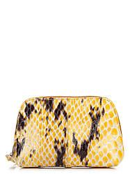 Женская кожаная косметичка 10312 Made in Italy цвет желтый
