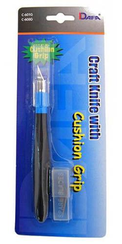 Нож макетный DAFA C-601GS резиновая ручка 5 сменных лезвий