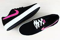 Кеды, кроссовки Nike черные замшевые на толстой подошве, фото 1