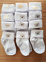 """Носочки для новорожденных.""""Lycra-0"""". Белые. Турция.Оптом"""