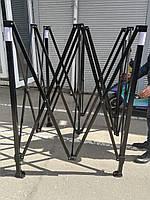Шатер каркасный (черный, 3м*3м)