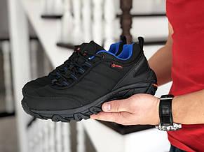 Зимние мужские кроссовки Merrell,нубук,черные с синим, фото 3